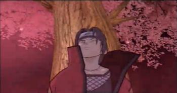 Kurenai atrapa a su oponente en un árbol...