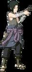 A aparência de Sasuke durante sua batalha contra Itachi