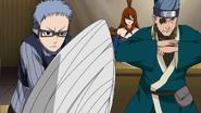 Chōjūrō e Ao defendem a Mizukage