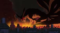九尾妖狐襲擊木葉隱村。