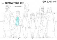 Arte Pierrot - Crianças do Orfanato de Konoha