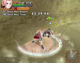 …causando uma onda de choque que derruba seu oponente.