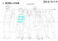 Arte Pierrot - Jovens do Orfanato de Konoha