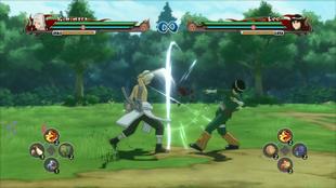 Kimimaro corta seu oponente com uma espada óssea…