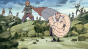 Choji Captures Jirobo