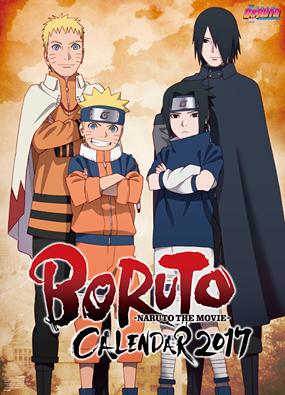 Boruto - Naruto The Movie Calendario 2017
