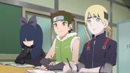 Hako, Wasabi e Inojin estudando ninjutsu médico