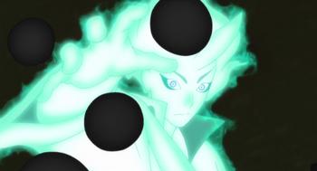 Toneri crea una serie de esferas negras...