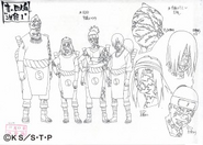 Screenshot=Jirobo, Tayuya, Kidomaru, Sakon1