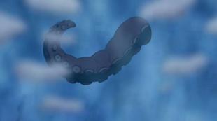 ...mas mostra-se um tentáculo, enganando seus adversários.