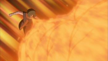 Suika expele fogo de sua própria boca…