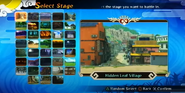 Naruto Storm Generations - selección de arenas