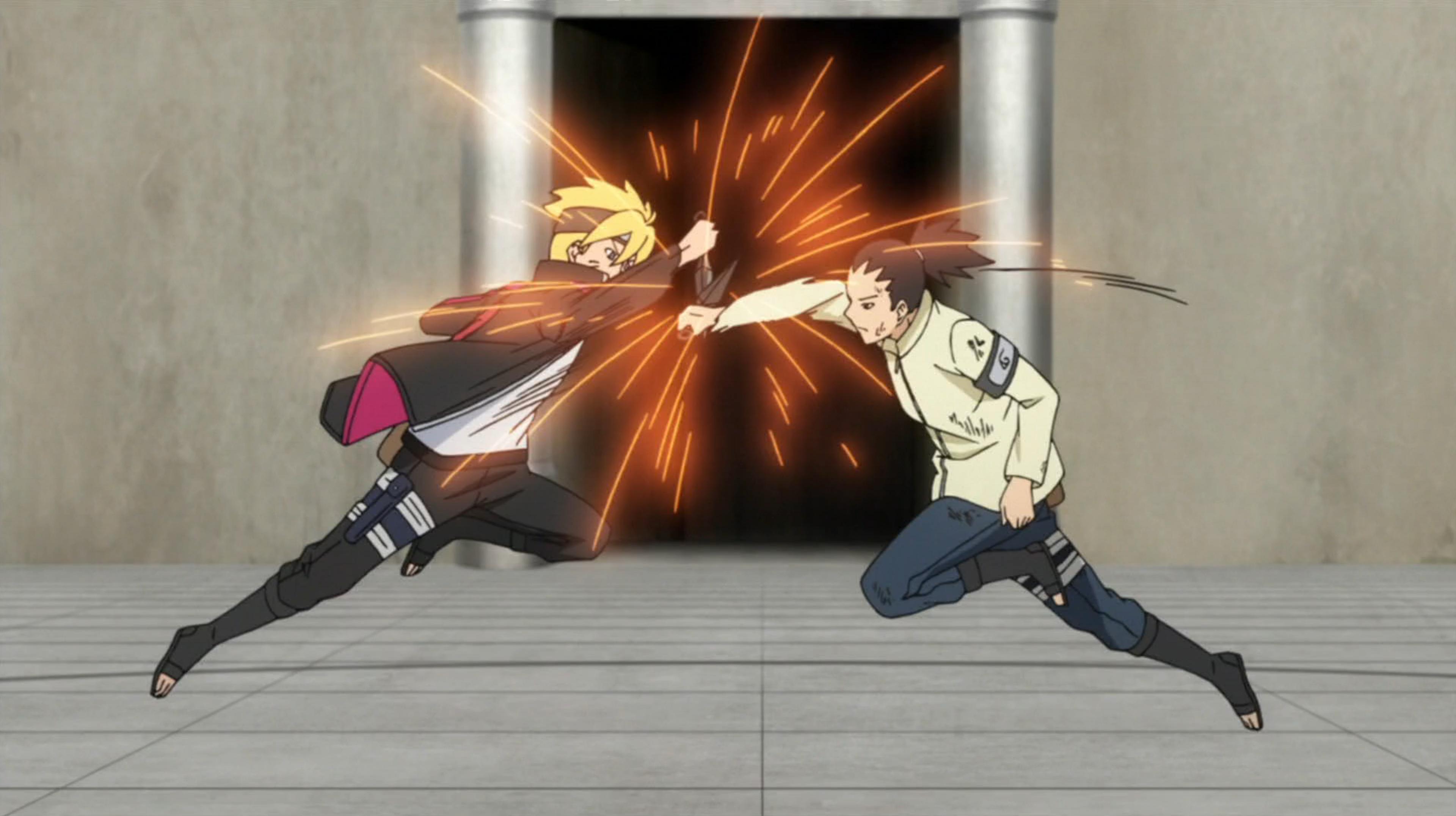 Boruto contre Shikadai