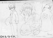 Arte Pierrot - Feições de Naruto Pijama