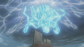 The lightning manifests…
