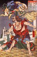 800px-Prince Hanzoku terrorised by a nine- tailed fox