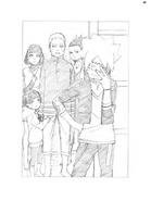 Ikemoto novel illustration - Hinata Hima Naruto Shika Boru