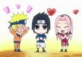 Sasuke with his teammates