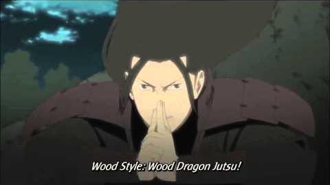 Hashirama Senju Wood Style Wood Dragon Jutsu Mokuton Mokuryū no Jutsu