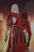 Hina holding Sakku