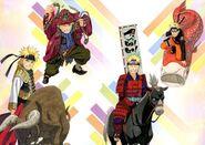 A alegria de Naruto em coleciona artefatos místicos.