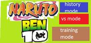 Naruto vs ben 10 menu