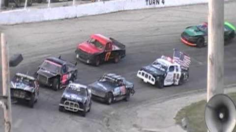 Worst Figure 8 Crash @ Slinger Super Speedway Ever!!!!! 9 11 2011