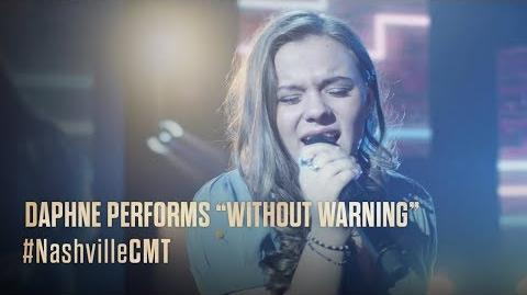 """NASHVILLE on CMT Daphne Performs """"Without Warning"""""""