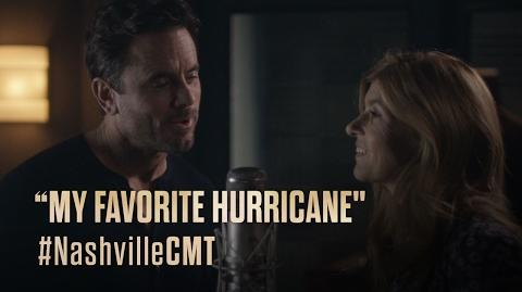 """NASHVILLE on CMT Rayna and Deacon Sing """"My Favorite Hurricane"""""""