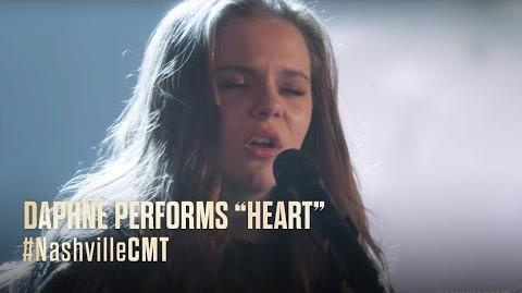 "NASHVILLE on CMT Daphne Performs ""Heart"""