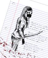 Mackenzie Weaver drawing blood