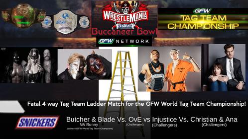 WM 37 GFW World Tag Team title 4 way Ladder match.png