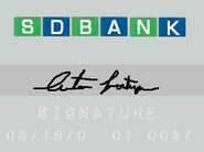 1970 SD Bank charge card