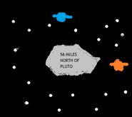 56 Miles North of Pluto