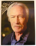 Christopher Plummer in National Treasure - autographed photo