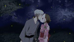 Hotarubi-gin kissing the mask2.jpg