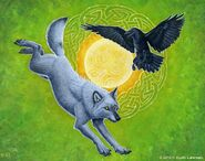 Wolf and raven by kyoht-d68fm8a