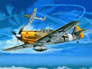 Two Messerschmitt Bf109s
