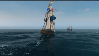 Frigate Sailing Rear
