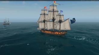 Frigate Sailing Side