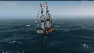 Frigate Sailing Front 1