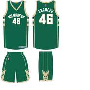 Milwaukee Bucks road uniform 2015-16