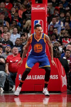 Barnes with the Warriors