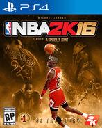 NBA2K16 PS4 special edition michael jordan cover