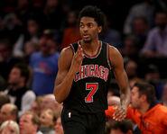Justin Holiday Chicago Bulls v New York Knicks vglKuyOCjQnl