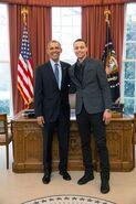 Barack Obama and Stephen Curry