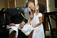 Kobe and Natalia kisssing