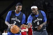 Kyrie with lebron