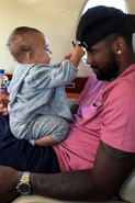 Kyrie and his daughter
