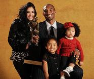 Kobe and family